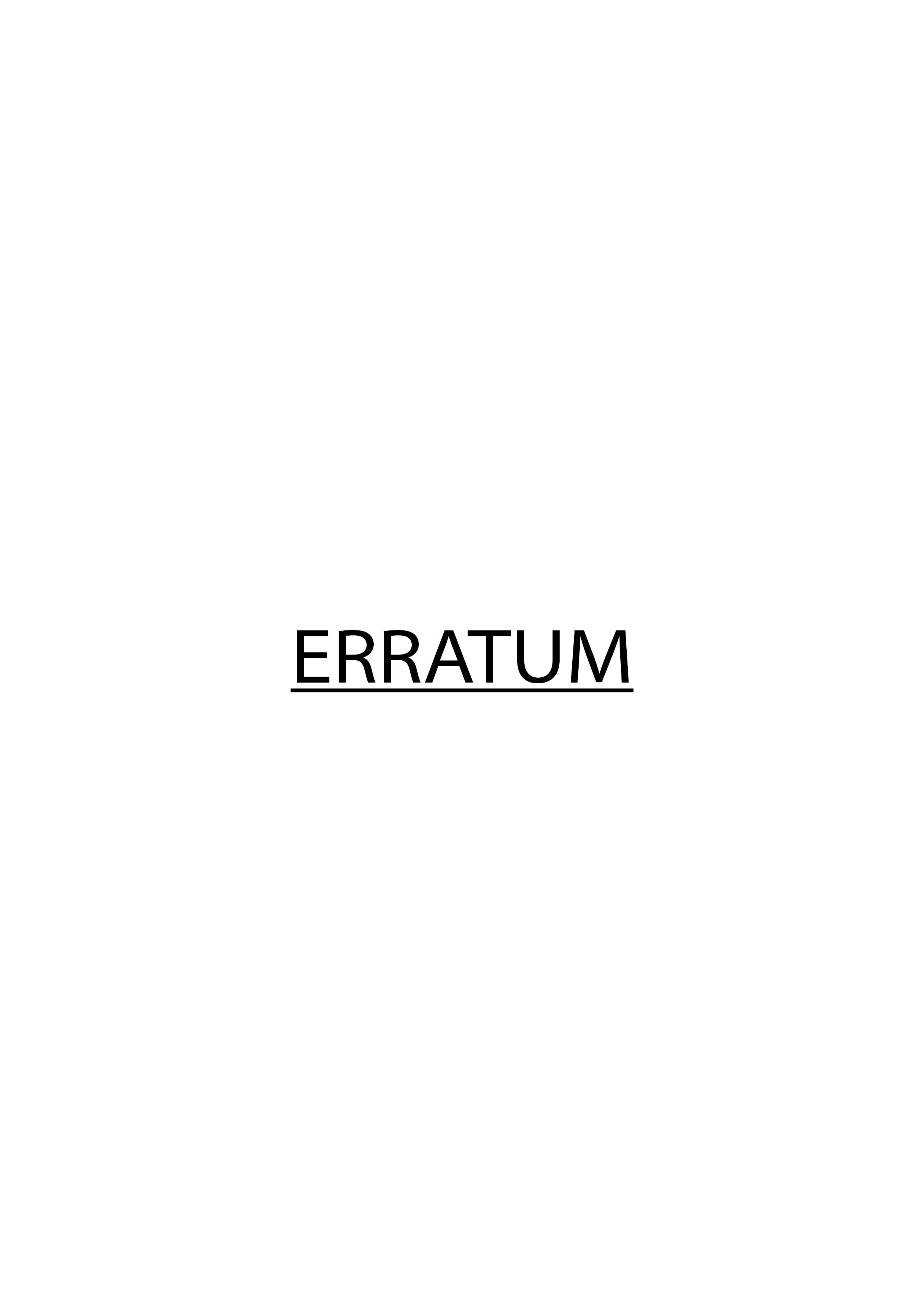 ERRATUM Catalogue